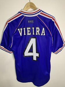 France Adidas Vintage Soccer 1998 Jersey Patrick Vieira Authentic Rare 🇫🇷