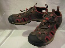 TIMBERLAND Men's Boy's Suede Brown Red Trekking Hiking Shoes Sandals Size US 6