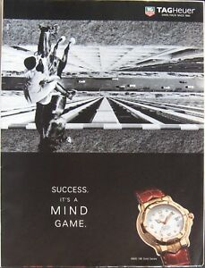 Tag Heuer Watch 6000 18K Gold Series Print Ad from a 1996 Magazine
