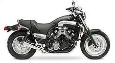 SuperTrapp Megaphone Slip-On Mufflers Black fits Yamaha VMX1200 VMAX 1985-2007