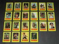 Rambo Stallone - Complete 22 Card Sticker Set - 1985 Topps - NM