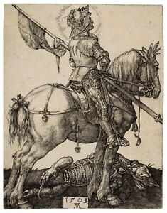 Albrecht Durer St George on Horseback paper or canvas reproduction