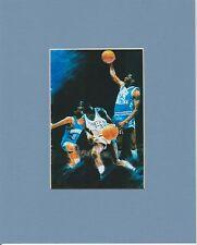 UNC TAR HEELS MICHAEL JORDAN SLAM DUNK CAROLINA BLUE MATTED ART PRINT