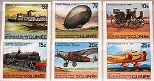 Guinea 1984 981-86 B 883-88 Transportation train car Airplane Zeppelin mnh