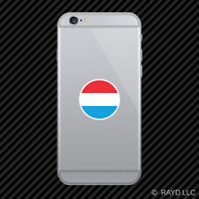 Round Luxembourger Flag Cell Phone Sticker Mobile Luxembourg LUX LU