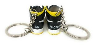 Hand Painted Retro AJ1 High OG Pair of 3D Mini Shoe Keychains Not for Resale