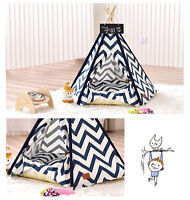 PLAYDO Small Pet Teepee Dog Bed Washable Portable Pet House Kitten Kennel Tents