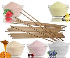 5x100g Zucker für Zuckerwatte mit Geschmack+50 Zuckerwattestäbchen,Holzstäbe,NEU