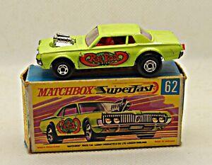 Matchbox Superfast  62 Mercury Cougar 1970 Made in England, caja original Coches