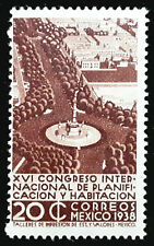 Mexico Stamp 1938 20c Independence Monument Scott # 744 MINT OG NH