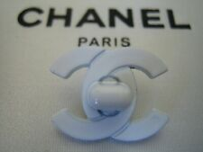 Chanel White CC Turnlock Style Small Button (could be worn with brooch/ pin)