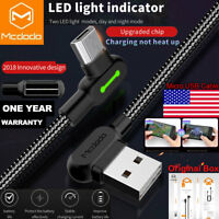 Mcdodo Fast Charging Micro USB Charger L Shape Reversible Usb Unbreakable Cable
