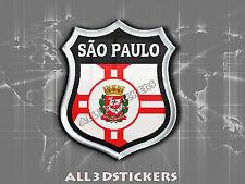 3D Emblem Sticker Resin Domed Flag São Paulo - Adhesive Decal Vinyl