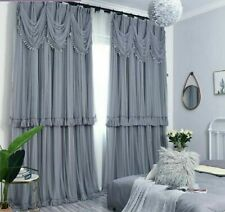 Lace Window Curtain Treatment Voile Blackout With Valance Elegant Bedroom Decors