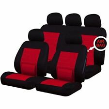Lumbar Red Full Set Front & Rear Car Seat Covers for Jeep Wrangler 97-On