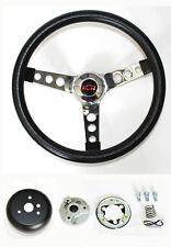 "C10 C20 C30 Blazer Grant Black Steering Wheel Red & Black center 13 1/2"""