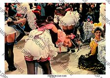 French Can Can Vintage Wall Art Print of Can Can Dancers Moulin Rouge Size A4