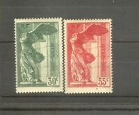 "FRANCE STAMP TIMBRE 354/55 "" VICTOIRE SAMOTHRACE LOUVRE 1937 "" NEUFS xx TTB H509"