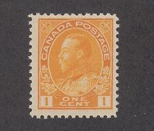 Canada Sc 105 MLH. 1922 1c orange yellow Admiral, Wet Printing, Die I F-VF