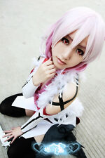 164 Guilty Crown INORI YUZURIHA purple mix cosplay wig 80cm wavy