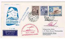 1958. Chipre  a Elchingen/Wurtt. Sobre con sello y fechador Nicosia