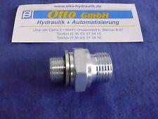 "Doppelnippel zöllig 1/2"" x 3/8"" AG + Dichtscheibe 3/8"" Hydraulik Adapter Nippel"