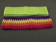 Yellow Multi 2 pack crochet headband soft Stretch kids girls childrens no metal