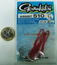 Assist Hook GAMAKATSU Serie 510 N° 1/0 Vertical Jig