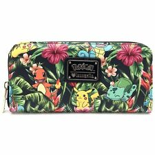 "NEW Loungefly X POKEMON Green ""TROPICAL STARTER"" Zip Around Wallet -SALE"