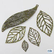 10pcs Metal Filigree Leaf Embellishments Cards Scrapbooking Hair Clips