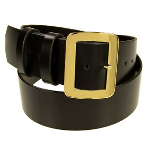 "Santa Claus Belt_2.5"" Wide Leather Belt, Brass Buckle_Pirate Belt_Amish Made"