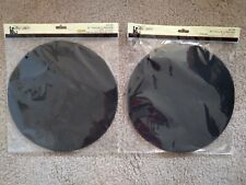 """His & Hers 9"""" Tulle Circles 50 Count Black"""