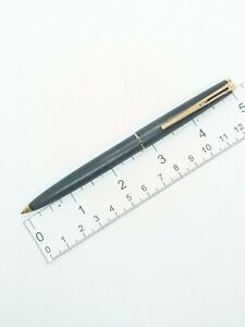 Excellent vintage MONTBLANC No 280 black matte brushed lever ballpoint pen
