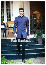 Blazer indian Style Nehru Coat jodhpuri Sherwani Mens silk Jacket CustomTailored