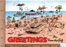 Unused Holiday Greeting Card from 1990 Desert Shield Gulf War