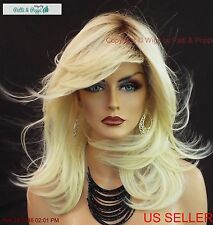 LACE FRONT MONOTOP HEAT FRIENDLY DESIGNER WIG✮ROOTED BLOND BOMBSHELL TURN HEADS
