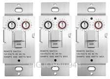 3 Pack X10 Ws469 Non-Dimming Pushbutton Relay Switch For Non-Incandescent Loads