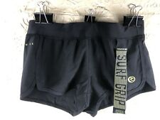 "Rip Curl Womens Black Mirage Surf Grip Short Shorts 2"" Size Medium New"