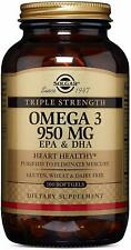 Тройная сила Омега - 3-EPA-и DHA-разъемы, Solgar, 100 в пластиковой капсуле 950 мг