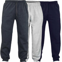 Raiken Plain Fleece Joggers Track Cuffed Bottoms Mens Size