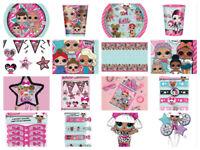 LOL Suprise Birthday Party Supplies Girls Dolls L.O.L Tableware Decorations New