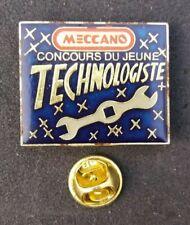 Meccano Construction Toys 1980s Vtg Pin Badge