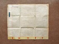1754 Brentwood Essex 3 page Georgian Vellum Deed Indenture Marriage Settlement