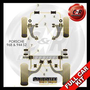 For Porsche 968 (92-95) Round Wishbone Rr Bushes Powerflex Black Full Bush Kit