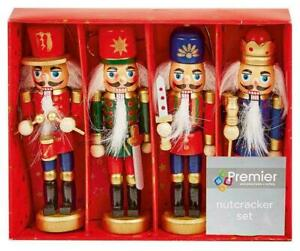 Christmas Nutcracker Soldiers Set Of 4 Christmas Tree Decorations Boxed 12cm