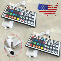 Lot2 44 Key IR Remote Controller 12V For 3528 5050 RGB LED Strip Light 2-Outputs