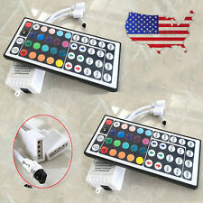 2x 44 Key Infrared remote + 12V control IR receiver for LED RGB strip two output
