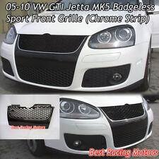 05-10 VW GTI Jetta MK5 Badgeless Front Grille (Chrome)