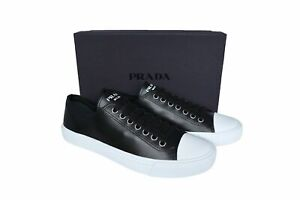 NEW Authentic PRADA Mens Shoes Sneakers Black Size US12.5 EU45.5 UK11.5 4E3556