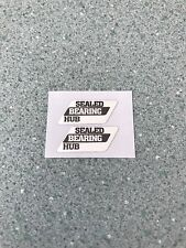 Olds School Bmx Sealed Bearing Hub Wheel Rim Stickers Black On Silver